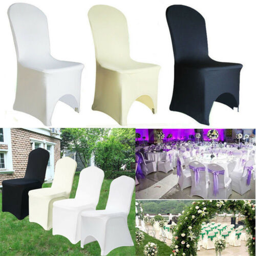 SPANDEX / 100PCS CHAIR COVER WHITE / BLACK / IVORY COVERS BA