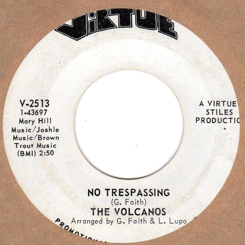 Volcanos No Tresspassing Virtue DEMO Soul Northern motown