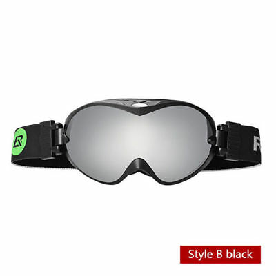 47400930356 RockBros Winter Sports Goggles Double Anti-Fog Lenses Ski Glasses B Style  Black
