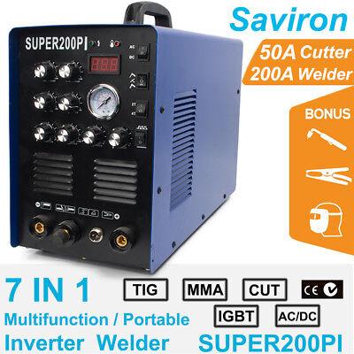 Tig Argon Wig Welder Acdc 50a Plasma Cutter 200a Mma Arc Stick Welding Machine
