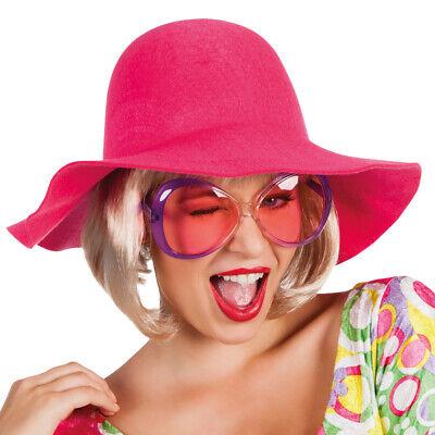 Karneval Klamotten Kostüm Schlapphut Sixties pink Zubehör Karneval Flower (Kostüm Sixties)