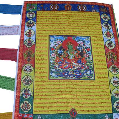 nen Buddhismus Tibetan Windpferd Buddha Flagge Prayer Flag (Veranda Flags)