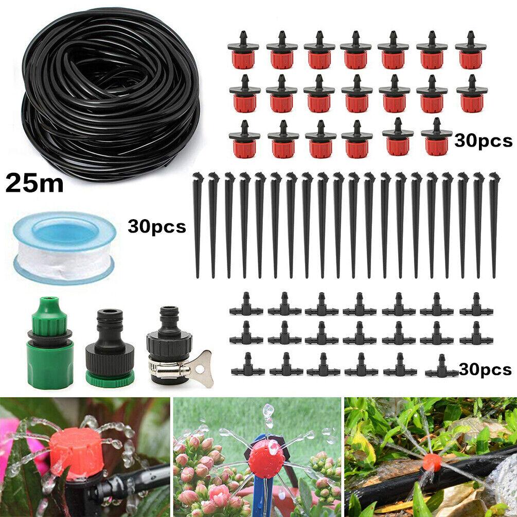 25M Automatische Garten Bewässerungssystem Micro Bewässerung Tropfer 30 drippers