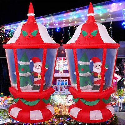Christmas Inflatable Lantern Santa Claus Xmas Tree Yards Shop Outdoor 1PCS - Inflatable Santa
