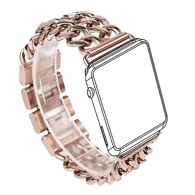 Apple Watch Bracelet Band Rose Gold Stainless Steel iWatch Chain Band 38mm