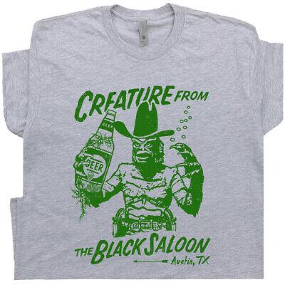 Famous Dive Bar T Shirt Vintage Horror Movie Graphic Men Austin Texas Beer Pub