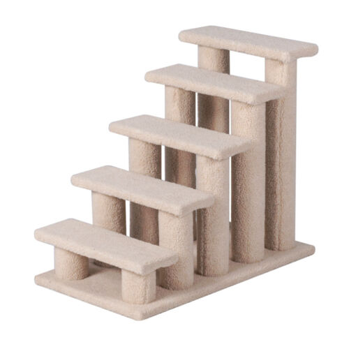 """25"""" 5 Steps Pet Stairs Ladder Ramp Scratching Post Cat Tree Climber for Cat Dog"""