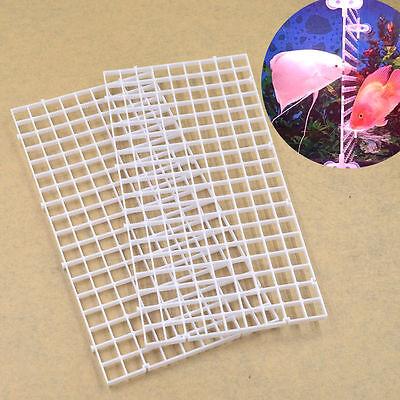 2PCS EFFECTIVE FISH TANK SEPARATOR DIVIDER HOLDER WHITE COVER HOLDING NET MAT