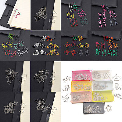 1 Set Metal Animal Shaped Clips Bookmarks School Office Stationery Paper Clips