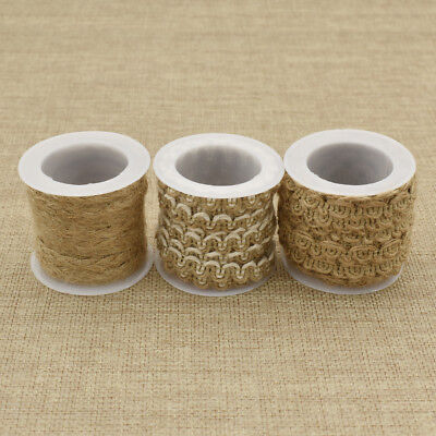 Soft Textured Natural (Soft Natural Textured Hessian Jute Twine Rope Cord String Craft for Wedding)