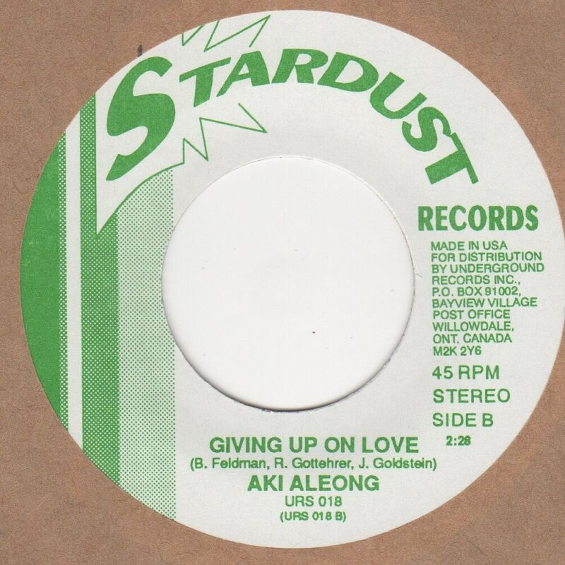 Aki Aleong Giving Up On Love Stardust Soul Northern motown