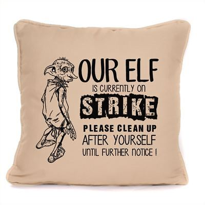 Harry Potter Fan Cushion Dobby The House Elf On Strike Design With Pad Included