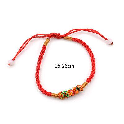 Fengshui Chinesisch Rote Schnur Erfolg Glückbringer Verstellbar Armband Schmuck (Chinesische Rote Schnur Armband)