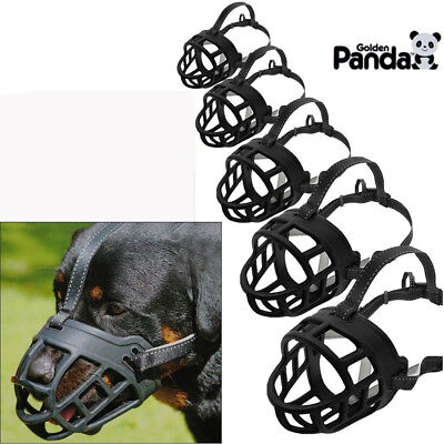 Adjustable Mask - Strong Dog Muzzle Adjustable Basket No Bite Mouth Mask Bark Cage flexible Straps