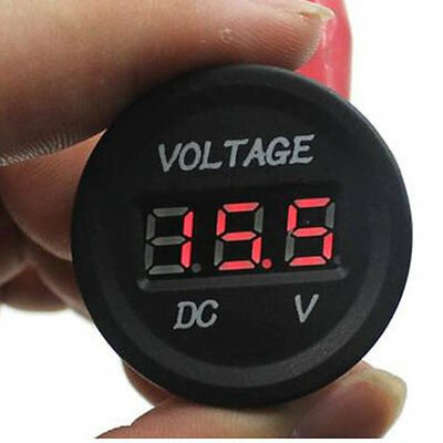 12V-24V Car Motorcycle LED DC Digital Display Voltmeter Waterproof Meter DG