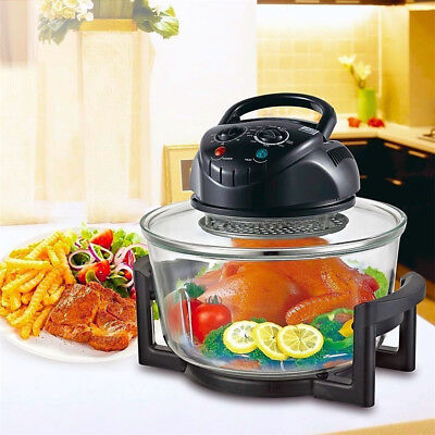 Digital Electric Air Fryer Oil-Less Griller Roaster Calorie Reducer 17 Quart US