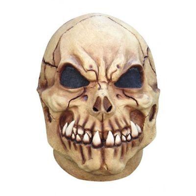 Vampire Skeleton Skull Latex Mask Fangs Halloween Costume Accessory Dracula - Vampire Skull Mask