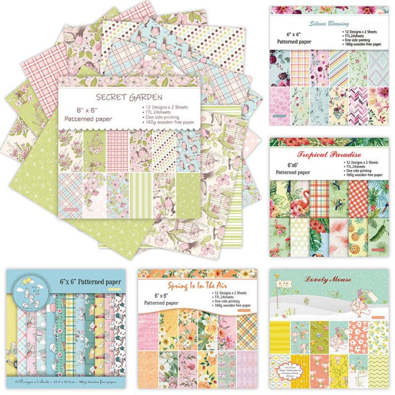 12Pcs Rice Paper Floral Decoupage Scrapbook Craft Background Card Sheet DIY