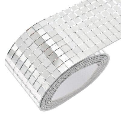 100x4cm Self Adhesive Glass Mosaic Sticker Mini Square Mirror Tiles Sheet DIY US](Mirrored Tile)