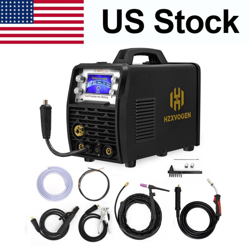 110V/220V MIG Welder LED Smart MIG Stick 200A TIG Welder Weld Aluminum WP26V