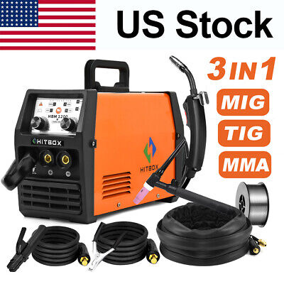 3in 1 Mig Welder Flux Cored Wire Stick Arc Lift Tig Welding Machine Dc Igbt 220v