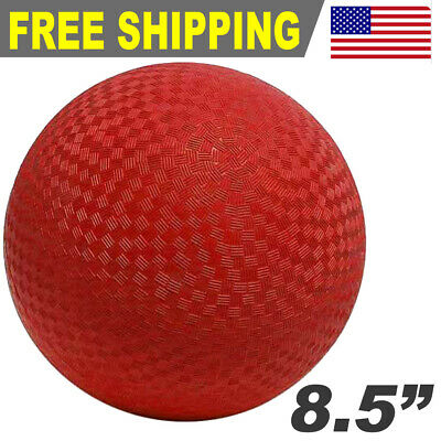 """Sports Rubber 8.5"""" Premium Playground Dodgeball Kickball Game Ball - Red"""