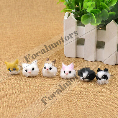 Cute Animals Head Rings Cat Dog Fox Lovely Finger Ring Adjustable 1PC