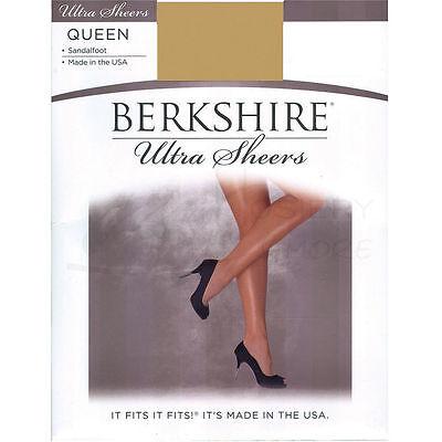 (New Berkshire Queen Ultra Sheer Sandalfoot Hosiery 4413 Pantyhose)