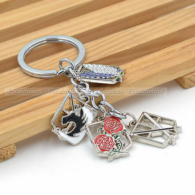 Anime Attack on Titan Keychain Scouting Legion Wings Of Liberty Multi Badge Hot