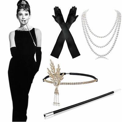 1920s Kostüm Damen Flapper Accessoires Set 20er Jahre Halloween (Flapper Kostüm Accessoires)