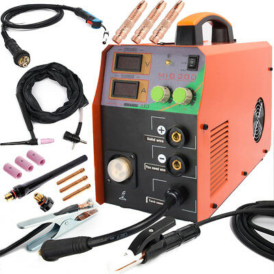 Mig Welder Tig Mma Welding Machine No Gas Mig Welding Gun Torch 200a Gasless
