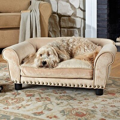 Luxury Dog Sofa Bed Pet Cushion Couch Puppy Furniture Mat Pad Soft Kennel Lounge