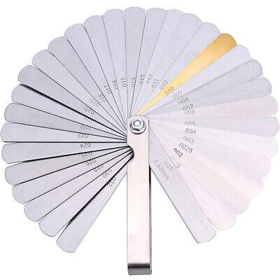 32 Spalte (Edelstahl 32 Blatt Abstandslehre Fühlerlehre Ventillehre 0,04-0,88mm Spaltmass)