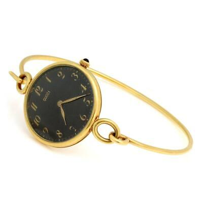 Gucci France Vintage 18k Yellow Gold Handwind Ladies Wire Hook Band Watch