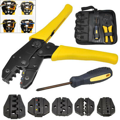 5 In 1 Crimper Tool Electrical Terminal Cable Wire 5 Interchangeable Tips Pliers