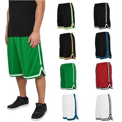 Urban Classics Basketball Stripes Mesh Shorts Trikot Hose Oldschool Nba Retro