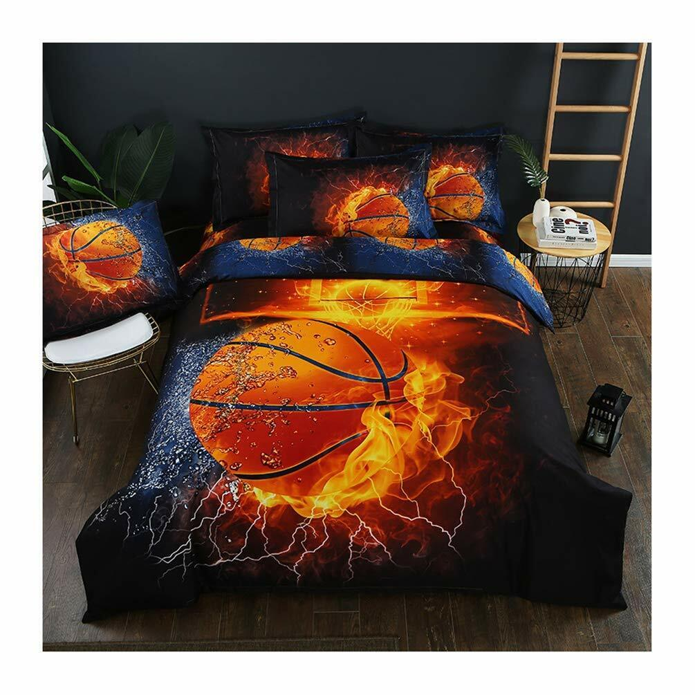 3D Sports Bedding Set for Teen Boys Duvet Cover Sets with Pi
