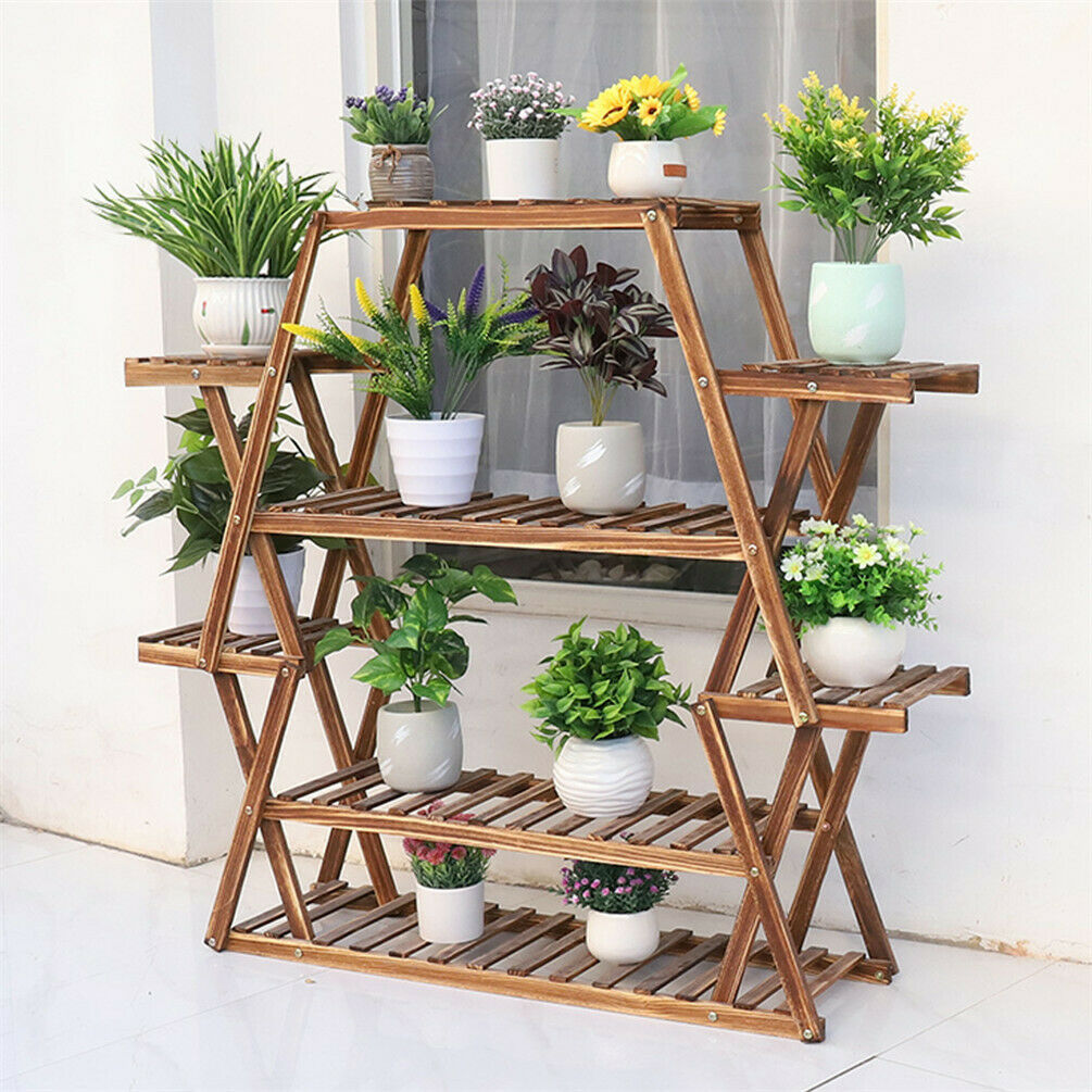 Heavy Duty Multiple Pots Plant Stand Flower Organizer Rack Holder Indoor Outdoor 7625752514150 Ebay