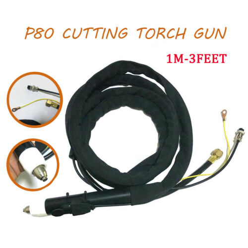 Plasma Cutter Cutting Torch Head Body CNC P80 Complete Gun 1 Meter For CUT LGK