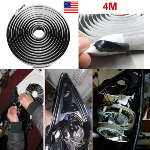 Car Parts - 1 Roll Car Butyl Tape Rubber Glue Headlight Sealant Retrofit Reseal Door VAN