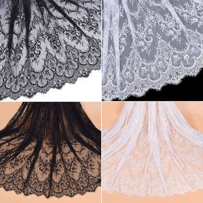Nähe Stoffe Dekosotff Spitzenband Bestickt Weiß Schwarz Lace DIY Hochzeit Kleid
