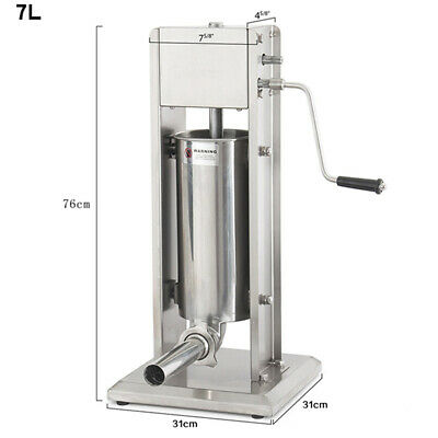 7l Vertical Commercial Sausage Stuffer 11lb Stainless Steel Meat Press Filler