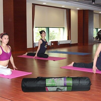 Portable Yoga Pilates Mat Mesh Case Bag Oxford Exercise Workout Carrier 67cm Q@