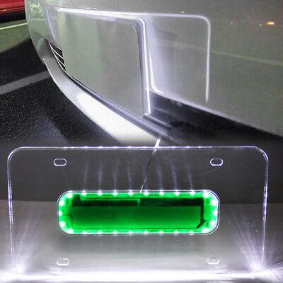 Universal Car LED White Light Acrylic License Plate Frame Holder Lighted (Lighted License Plate Frame)
