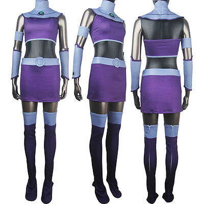 Comics superhero alien Starfire Teen Titans Go! outfit Halloween costume - Teen Titans Go Halloween