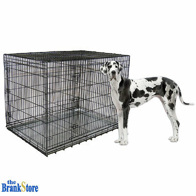 Large Dog Crate XXL Kennel Extra Big Folding Pet Wire Cage Huge Breed Size