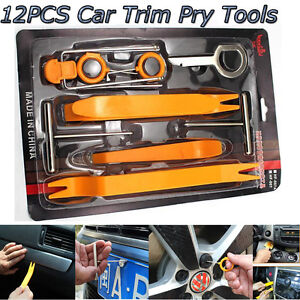 12PC Car Stereo Radio Removal Tool Key for VW MERCEDES AUDI PORSCHE FORD LINCOLN