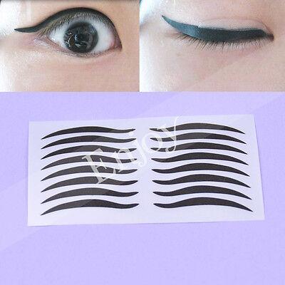 Damen Schönheit Schminken Eyeliner Sticker Aufkleber Augen Tatoo Zubehör 40 Paar