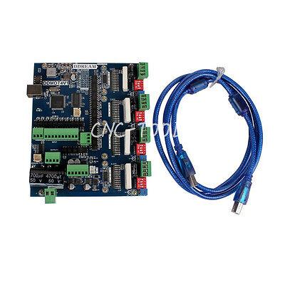 Tb6600 Cnc 4 Axis Usb Mach3 Stepper Motor Driver Controller 2 In1 Board 200khz