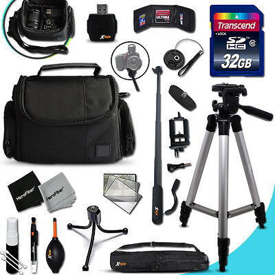 Xtech Kit for Canon POWERSHOT SX60 Ultimate w/ 32GB Memory + Case +MORE